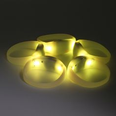 Yellow Lights GFLAI Wireless DMX512 Remote Control LED Bracelets