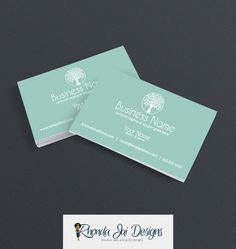 Business Card Designs - Printable Business Card Design - Wellness Business Card Design - Tree 2 by RhondaJai on Etsy
