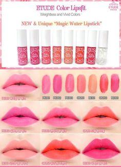 etude house lips fit Etude House, Lip Gloss, Beauty Skin, Beauty Makeup, Kawaii Makeup, Korean Make Up, Makeup Haul, Types Of Makeup, Products