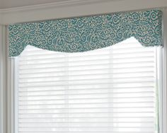 The crowning element for your windows. Fabric cornices add texture, drama, depth or a pop of color. Use alone or in combination with other window treatments. A Cornice can make a window appear larger and grander than it actually is, conceal the headrail o Corner Curtains, Bay Window Curtains, Burlap Curtains, Corner Windows, Bay Windows, Window Seats, Window Cornice Diy, Window Cornices, Window Coverings