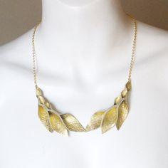 Double Leather Petal Necklace