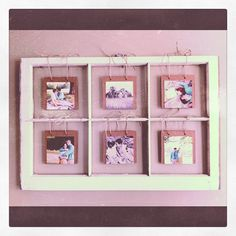 This idea is awsome, and looks super easy. Photos and an old window pane!