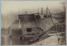 U.S. gunboat Essex - Mississippi River Fleet.  photographed between 1861 and 1865