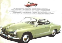 https://flic.kr/p/corBq1 | 1960 Karmann Ghia Coupe | Fantastic artwork for this sixties brochure.  Printed in Germany for many markets, in many languages.    It's quite similar to the work Van Kaufman and Art Fitzgerald were doing for Pontiac at the same time.