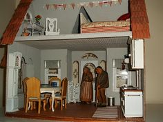 A Bee In A Bonnet: Swedish summer cottage     The Buttercup dollhouse