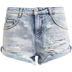 LTB AMELIE Denim shorts starletta wash ($49) ❤ liked on Polyvore featuring shorts, bottoms, destroyed denim, short shorts, ripped shorts, destroyed shorts, ripped jean shorts and jean shorts