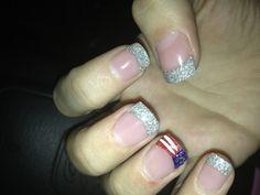 My patriotic Fourth of July nails woohoo!!