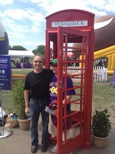 Red phone booth at Training Camp | #VikingsInUK