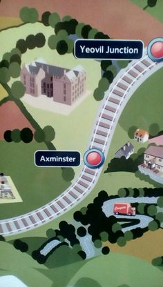 SWT map at Salisbury Station showing Axminster