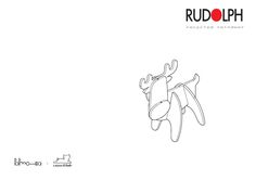 recycled reindeer: Rudolph