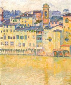 klimt-artwork:  Théo Van Rysselberghe, der Arno in Florenz,1909