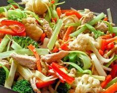 Wok de poulet aux légumes : http://www.fourchette-et-bikini.fr/recettes/recettes-minceur/wok-de-poulet-aux-legumes.html