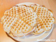 Vafler uten egg | Det søte liv Frisk, Nars, Waffles, Sweet Tooth, Gluten, Egg, Baking, Breakfast, Recipes