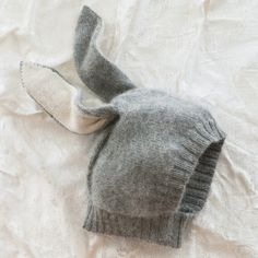Bunny Wool Winter Hat from Sweater - this wouldn't be too hard to figure out how to make