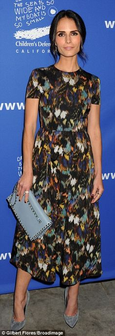 Colourful: The Fast And The Furious actress Jordana Brewster attended in a simple but beau...