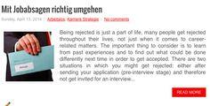 Mit Jobabsagen richtig umgehen, lesen Sie mehr dazu: http://www.suedtirolcareer.com/2014/04/mit-jobabsagen-richtig-umgehen.html