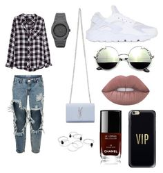 """""""⚜"""" by lizi-cosmos on Polyvore featuring мода, One Teaspoon, Rails, Yves Saint Laurent, NIKE, Casetify, Lime Crime, Chanel и CC"""