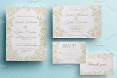 Golden Roses Wedding Pack by annago on @creativemarket