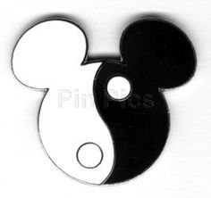 Mickey Head Yin Yang www.aspenyogamats.com
