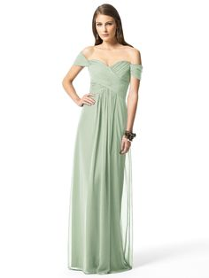 I love this color for a bridesmaid dress. Mint green or celadon.