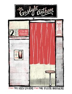 GigPosters.com - Gaslight Anthem, The - Hold Steady, The - Felice Brothers, The