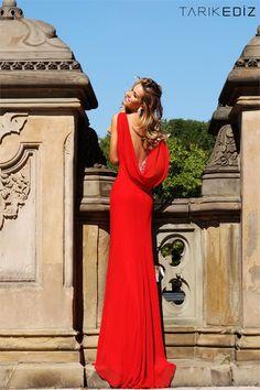 Tarik Ediz Evening dress 8101! Love  back