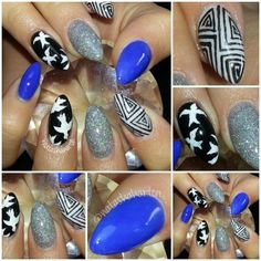 Don't like the pointing nail style, but I love the patterns and designs.