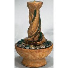Centerpiece Cast Stone Spiral Fountain
