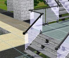New Glass fence and stair railing for that light filled modern look Found in TSR Category 'Sims 3 Construction Sets' The Sims 4 Pc, My Sims, Sims Cc, Glass Stairs, Glass Fence, Sims 4 Tsr, Sims Packs, Sims 3 Mods, Sims 4 Bedroom