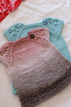 Free baby dress knitting pattern. For Rachel
