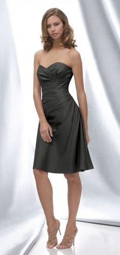 Dark Charcoal bridesmaids dresses