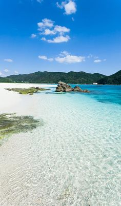 Looking Back at Aharen Beach, Kerama Islands, Japan