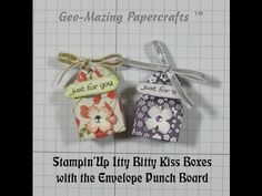Stampin'Up Itty Bitty Kiss Box with Envelope Punch Board - YouTube