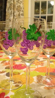 11.6.15 Bunch of grapes wine glasses for gift basket
