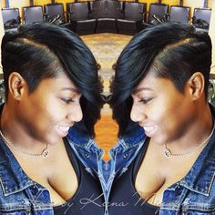 STYLIST FEATURE  This #cut ✂️styled by #ChicagoStylist @The_MakeupMogul is so edgy Love it❤️ #VoiceOfHair ========================= Go to VoiceOfHair.com ========================= Find hairstyles and hair tips! =========================