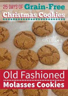 These molasses cookies are a family favorite, make with blackstrap molasses, almond flour, tapioca flour, and sweetended with turbinado sugar.