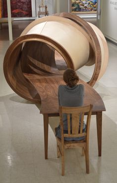 Beautifully Tangled 28-Foot-Long Table Constructed Entirely of Wood - My Modern Met
