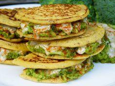 Kichererbsen Pfannkuchen Sandwiches - glutenfrei & lecker