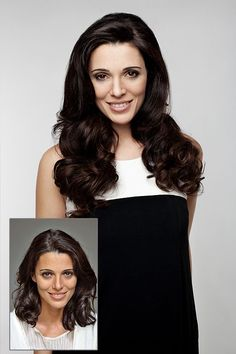 Before and After / Tape in Human Hair Extensions   #2 Natural & Soft & Silky