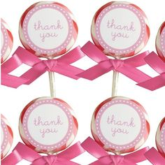 Pink Lollipop Favors