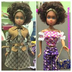 From designer to African prints. Either way Wuraola Queens of Africa black doll is fashion forward.