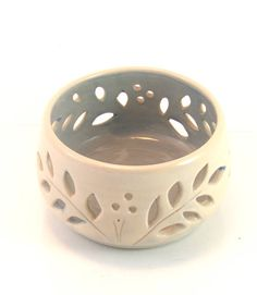 Hygge Inspired. Gift for Mom. Ceramic Tealight Candle Holder.