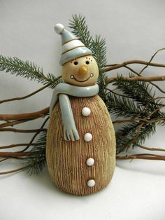 Ceramic Christmas Decorations, Christmas Crafts, Christmas Ornaments, Hand Thrown Pottery, Hand Built Pottery, Clay Projects, Clay Crafts, Ceramic Pottery, Ceramic Art