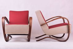 The most famous Czechoslovakian design in the world. Precisely restored pair of H-269 chairs designed by Jinrich Halabala. Price per pair. by ClockedIt on Etsy