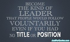 What kind of leader you should be?
