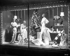 1930s Christmas window display