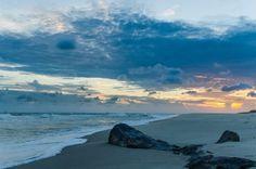 An empty Gulf Shores, Alabama beach