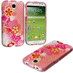 """Amazon.com: myLife (TM) Japanese Cherry Blossom Series (2 Piece Snap On) Hardshell Plates Case for the Samsung Galaxy S4 """"Fits Models: I9500..."""