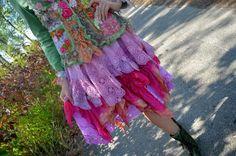 Bohemian romantic mori girl skirt fairy shabby chic by irinacarmen
