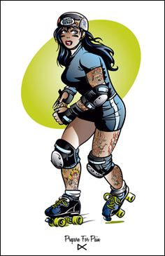 try out for the roller derby (so scared!)